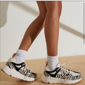 Free People Black Brand Aura Pony Hair Sneakers